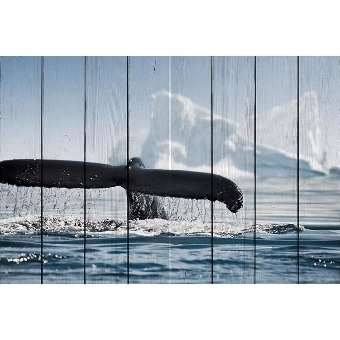 Картина на дереве Дом Корлеоне Хвост кита 60x90 см картина на дереве дом корлеоне вода 60x90 см