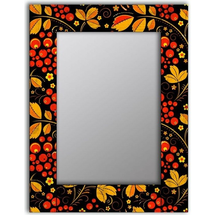 Настенное зеркало Дом Корлеоне Хохлома 75x110 см