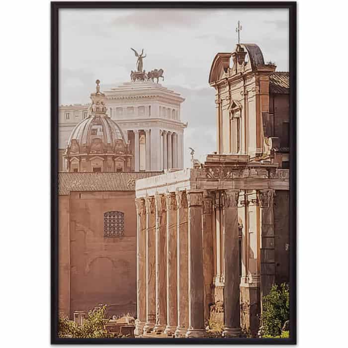 Постер в рамке Дом Корлеоне Храм Антонина и Фаустины 30x40 см