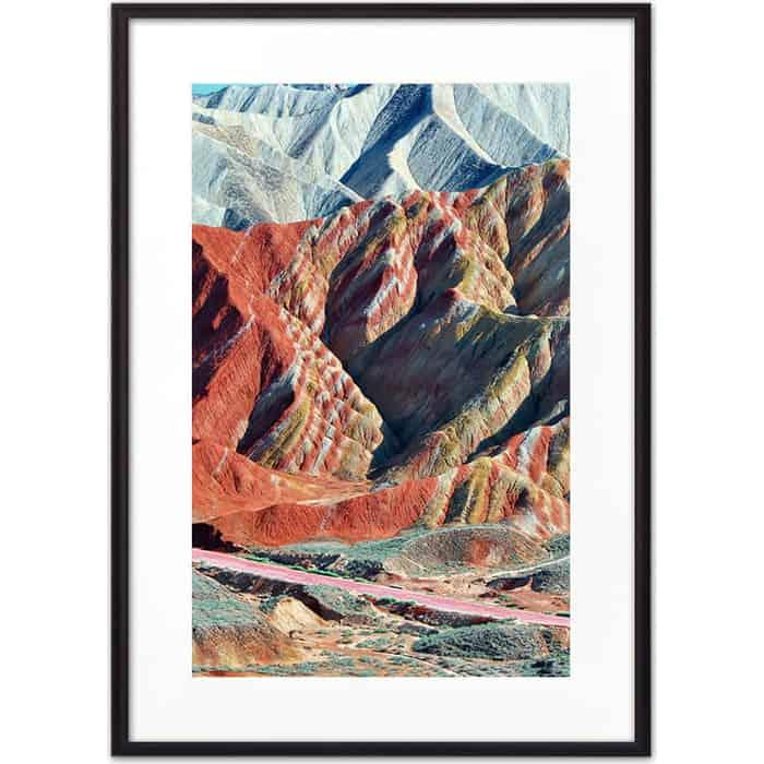 Постер в рамке Дом Корлеоне Цветные горы 30x40 см постер в рамке дом корлеоне горы 30x40 см