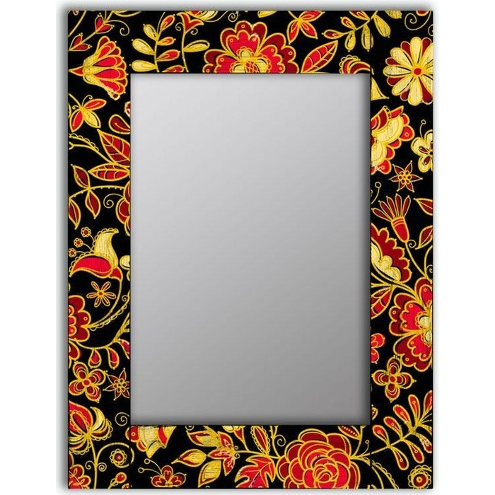 Настенное зеркало Дом Корлеоне Цветочная поляна 50x65 см