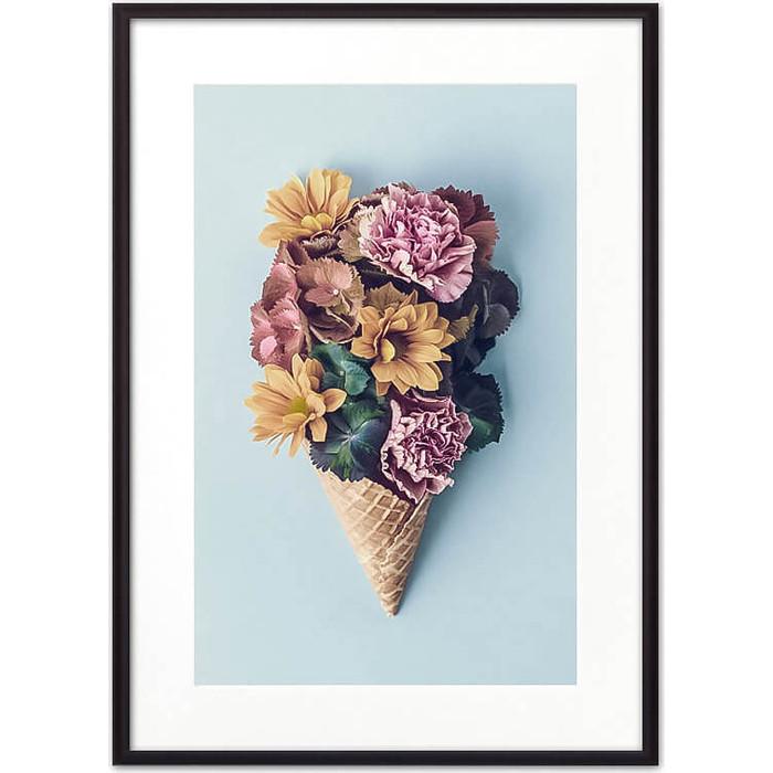 Постер в рамке Дом Корлеоне Цветочное мороженое 30x40 см
