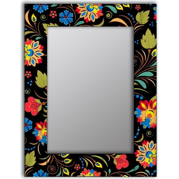 Настенное зеркало Дом Корлеоне Цветочный фейерверк 65x65 см