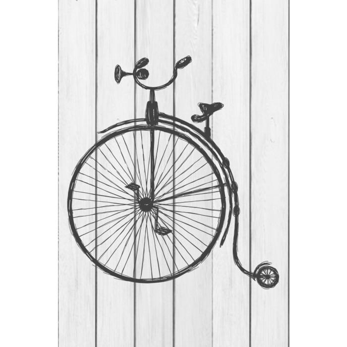 Картина на дереве Дом Корлеоне Цирковой велосипед 90x90 см