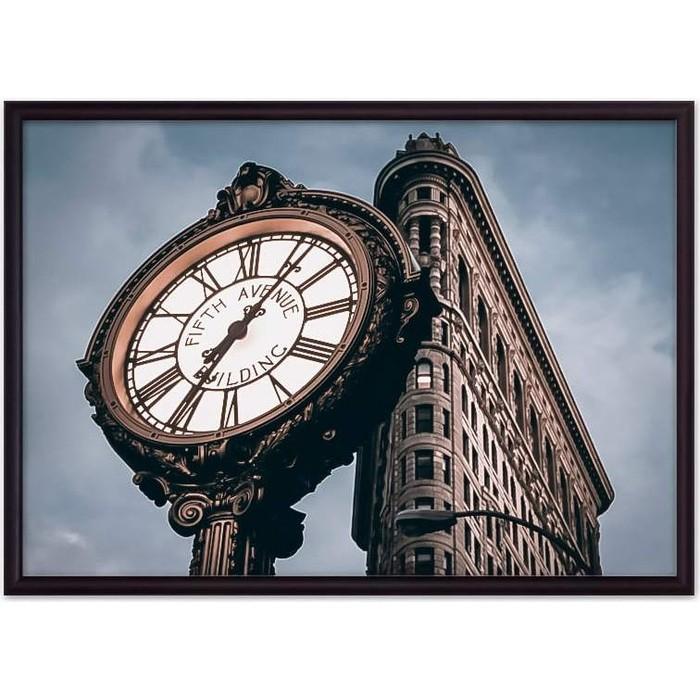 Постер в рамке Дом Корлеоне Часы Fifth Avenue 50x70 см