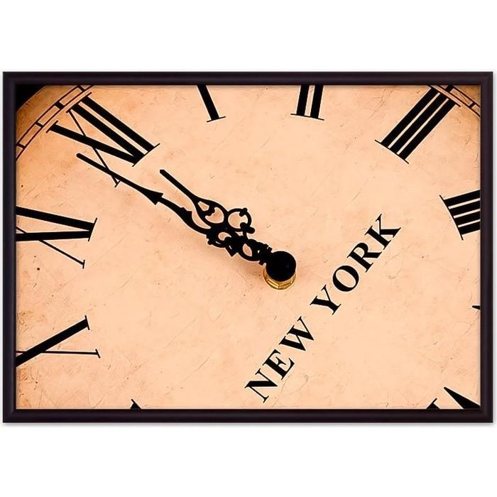 Постер в рамке Дом Корлеоне Часы Нью-Йорк 50x70 см