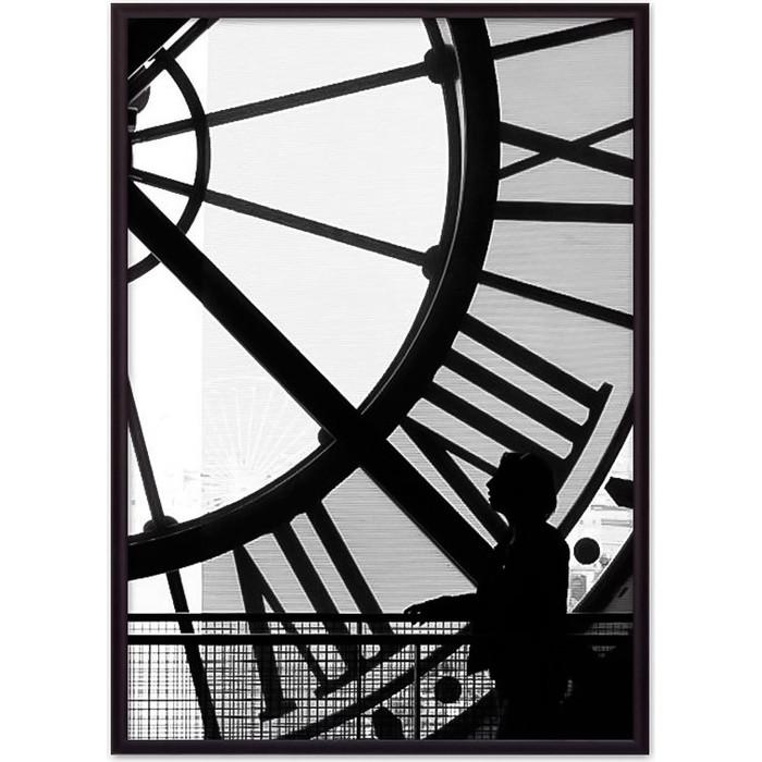 Постер в рамке Дом Корлеоне Часы Париж 50x70 см постер в рамке дом корлеоне метро париж 50x70 см