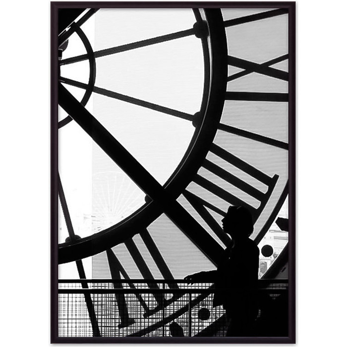 Постер в рамке Дом Корлеоне Часы Париж 50x70 см