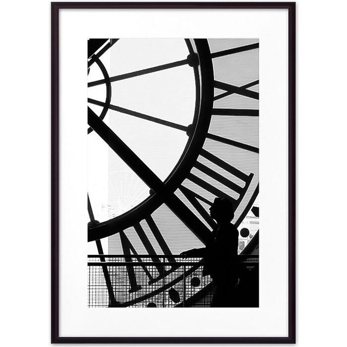 Постер в рамке Дом Корлеоне Часы Париж 40x60 см