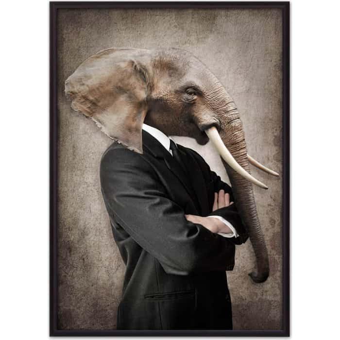 Постер в рамке Дом Корлеоне Человек-слон 21x30 см