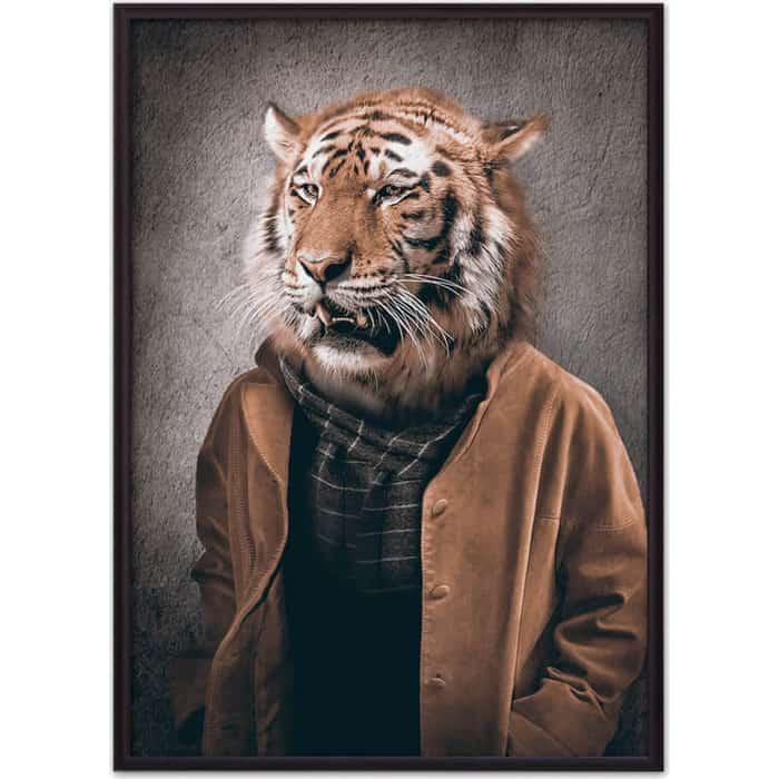 Постер в рамке Дом Корлеоне Человек-тигр 40x60 см постер в рамке дом корлеоне медведь dangerous 40x60 см