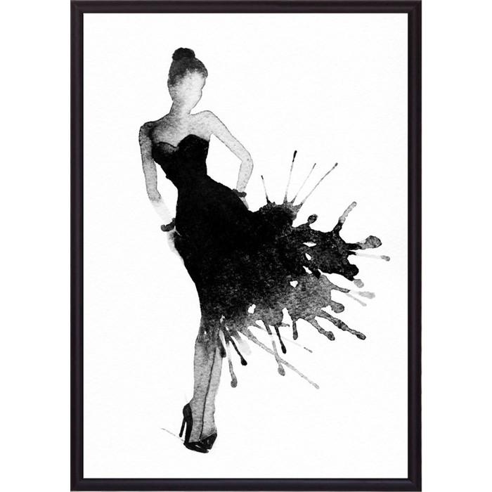 Постер в рамке Дом Корлеоне Черное платье Акварель 1 30x40 см постер в рамке дом корлеоне дама акварель 30x40 см