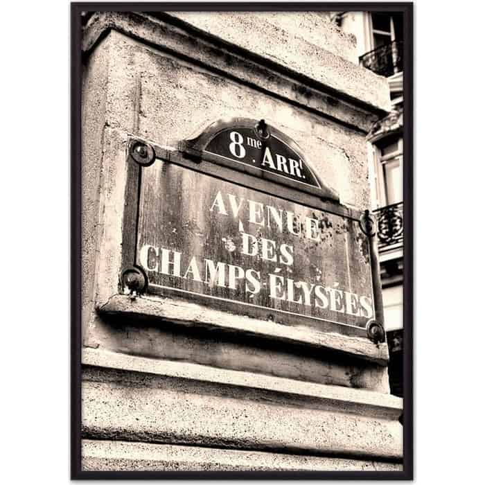 Фото - Постер в рамке Дом Корлеоне Шанс Элизе Париж 40x60 см постер в рамке дом корлеоне гаргулья париж 40x60 см