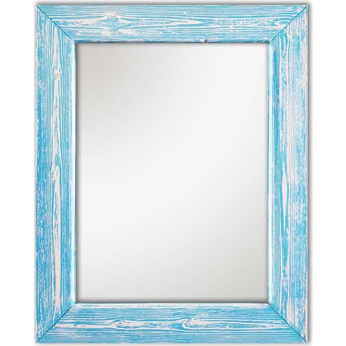 Настенное зеркало Дом Корлеоне Шебби Шик Голубой 75x110 см