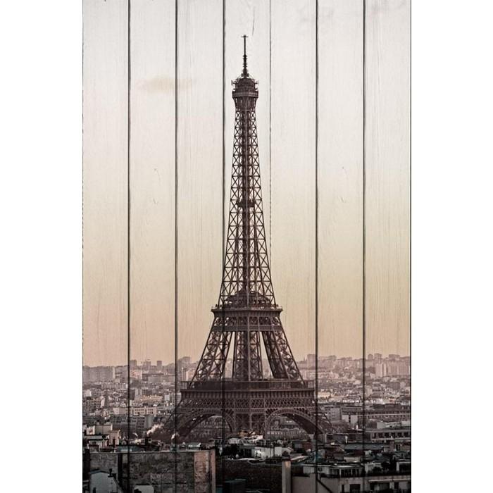 Картина на дереве Дом Корлеоне Эйфелева башня 60x90 см