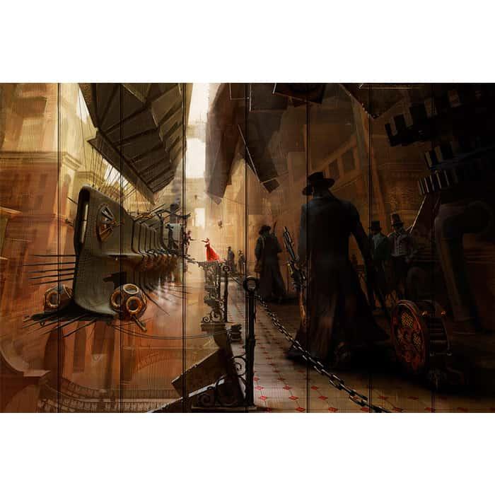 Картина на дереве Дом Корлеоне Эпоха машин 60x90 см картина на дереве дом корлеоне долина 60x90 см