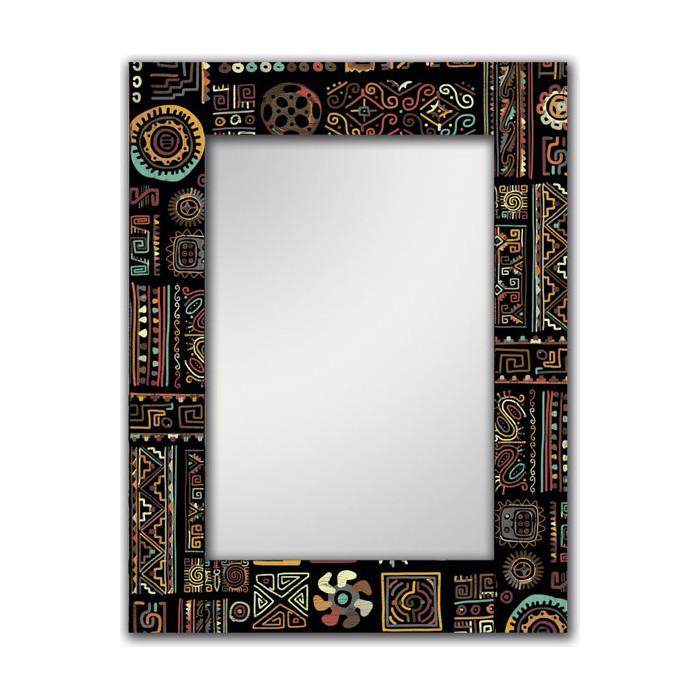 Настенное зеркало Дом Корлеоне Этнический микс 80x80 см