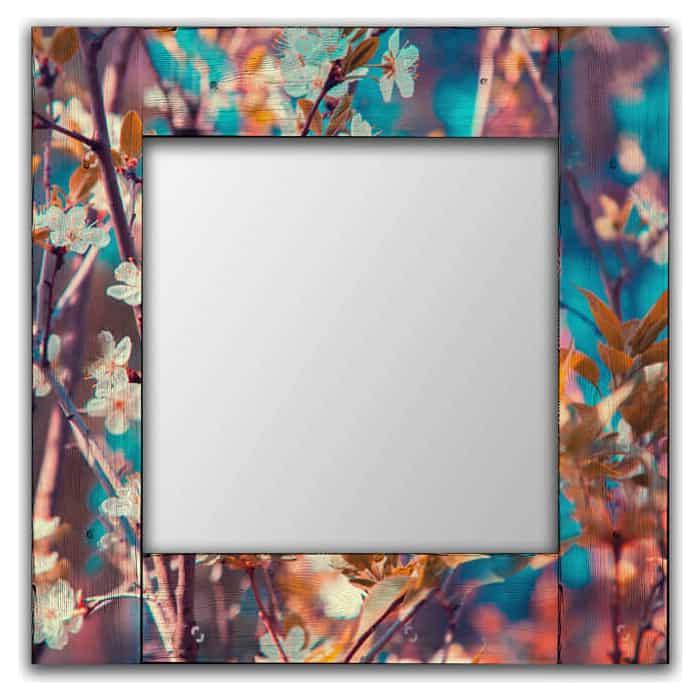 Настенное зеркало Дом Корлеоне Яблоневый цвет 80x80 см