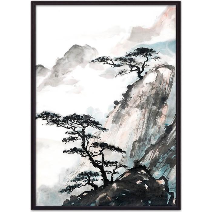Постер в рамке Дом Корлеоне Японская живопись 40x60 см