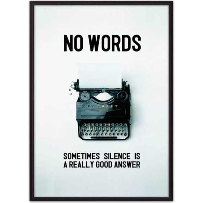 Постер в рамке Дом Корлеоне No words... 30x40 см