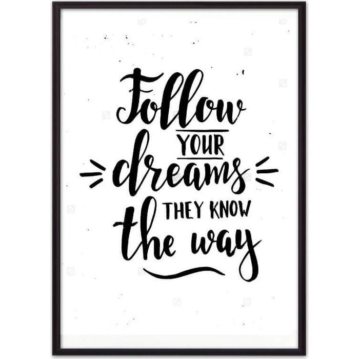 Постер в рамке Дом Корлеоне Follow your dreams... 21x30 см