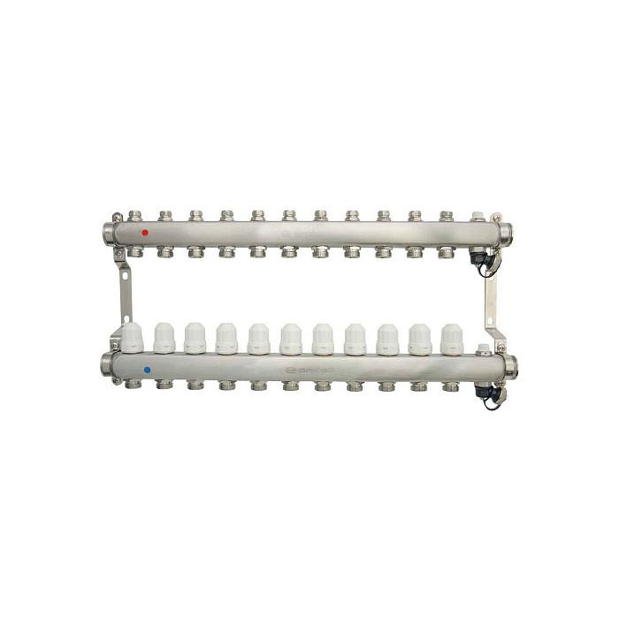 Коллекторная группа Ondo 11 выхода с термостатическими и запорными клапанами (OKGSP011)