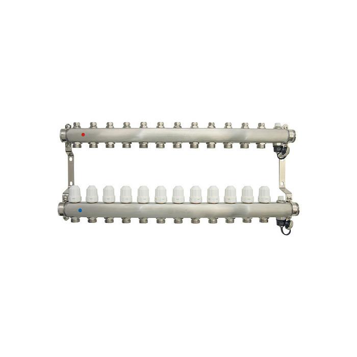 Коллекторная группа Ondo 12 выхода с термостатическими и запорными клапанами (OKGSP012)