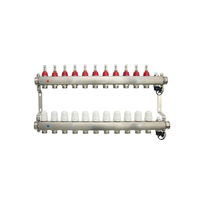 Коллекторная группа Ondo 11 выхода с расходомерами и термостатическими клапанами (OKGSET11)
