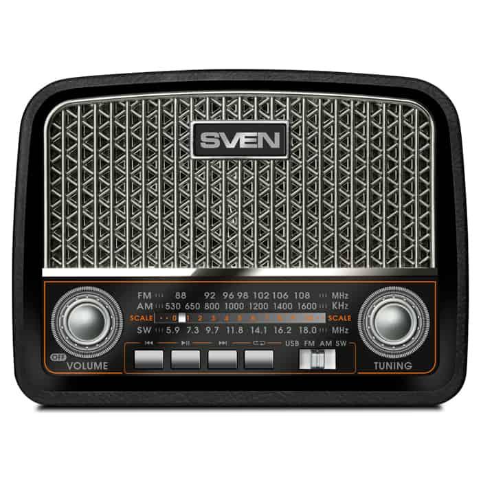 Радиоприемник Sven SRP-555 black-silver
