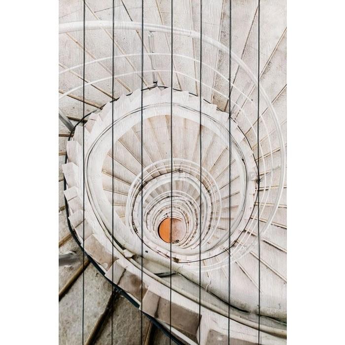Картина на дереве Дом Корлеоне Белая лестница 01-0285-100х150