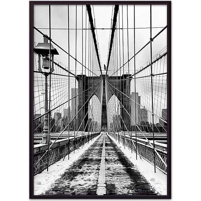 Постер в рамке Дом Корлеоне Бруклинский мост 07-0110-21х30
