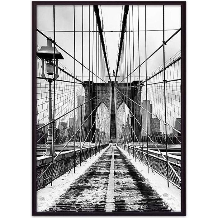 Постер в рамке Дом Корлеоне Бруклинский мост 07-0110-30х40