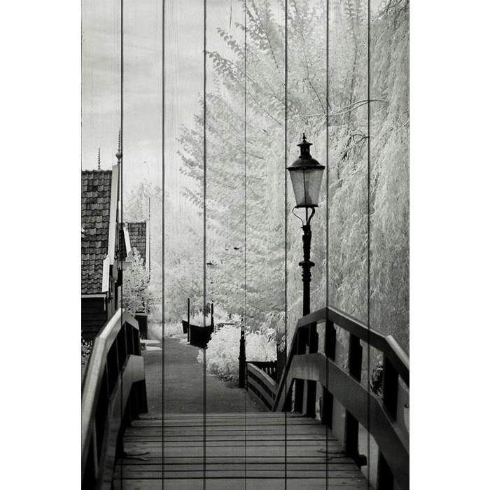 Картина на дереве Дом Корлеоне Лестница 01-0379-100х150
