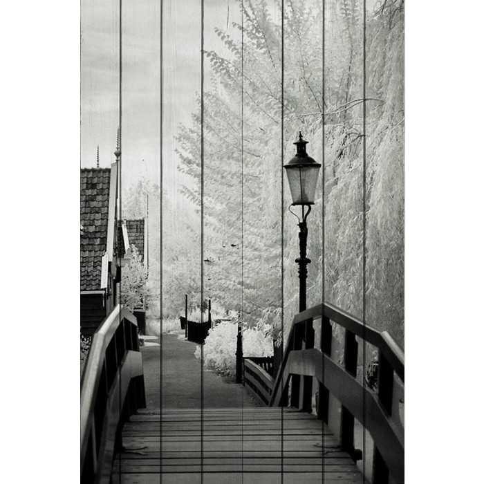 Картина на дереве Дом Корлеоне Лестница 01-0379-80х120