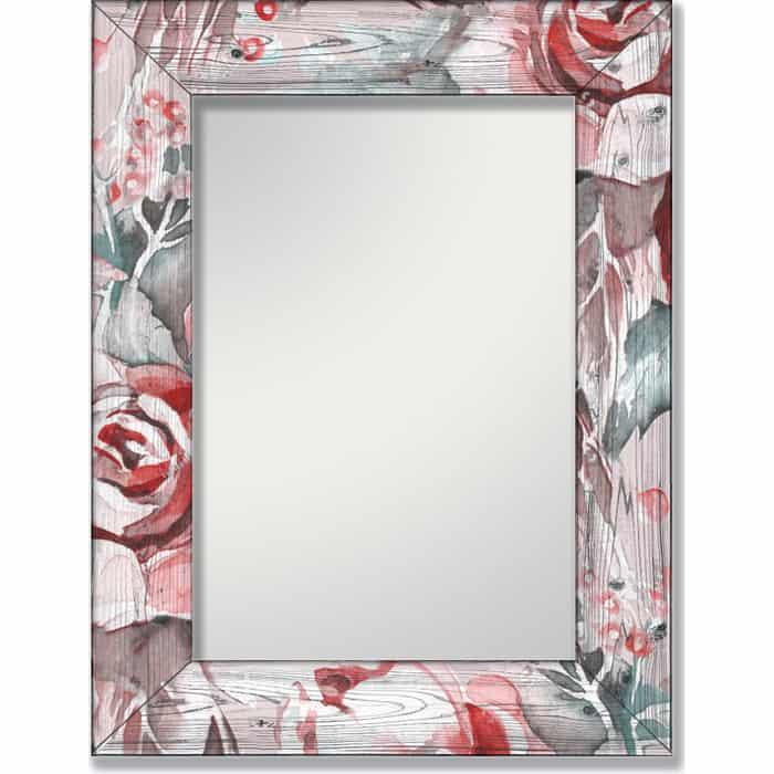 Настенное зеркало Дом Корлеоне Розы 04-0024-80х80