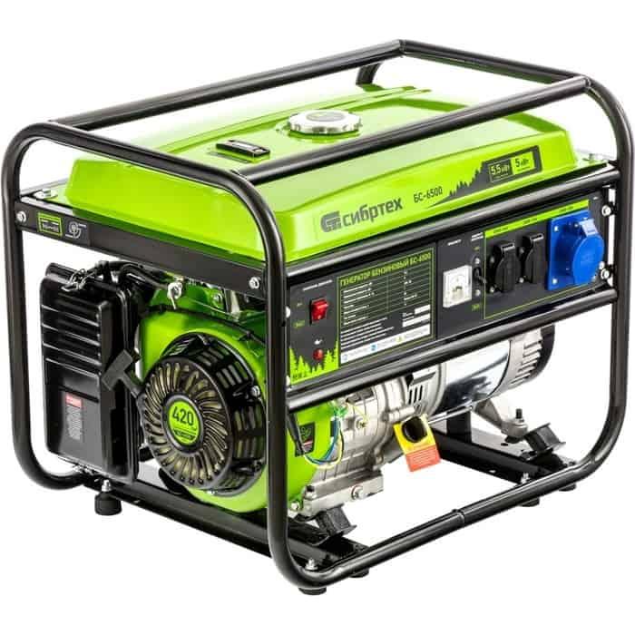 Генератор бензиновый СибрТех БС-6500