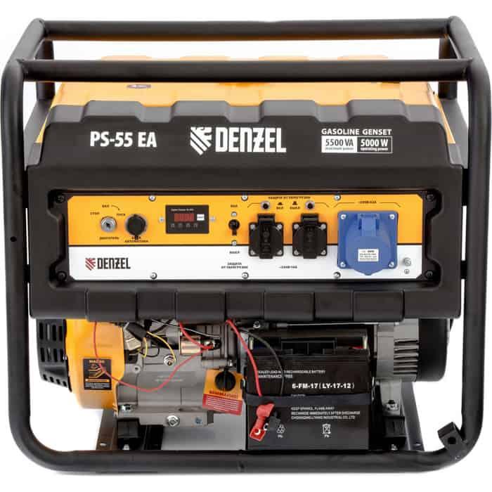Генератор бензиновый DENZEL PS 55 EA (946874)