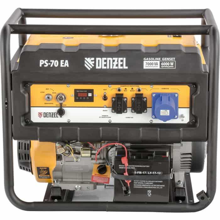 Генератор бензиновый DENZEL PS 70 EA (946894)