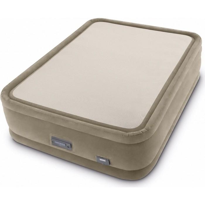Надувная кровать Intex ThermaLux 152х203х51см встр.насос 220В, 64478