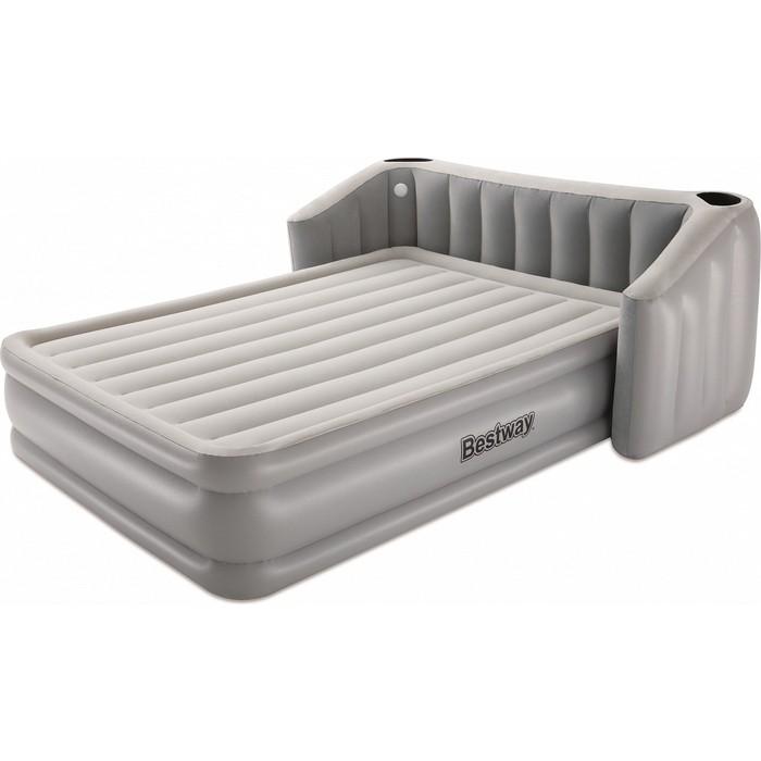 Надувная кровать Bestway Fullsleep Wingback 196х233х80см со спинкой, подстаканником и подсветкой, встр.насос 220В, 67620 BW