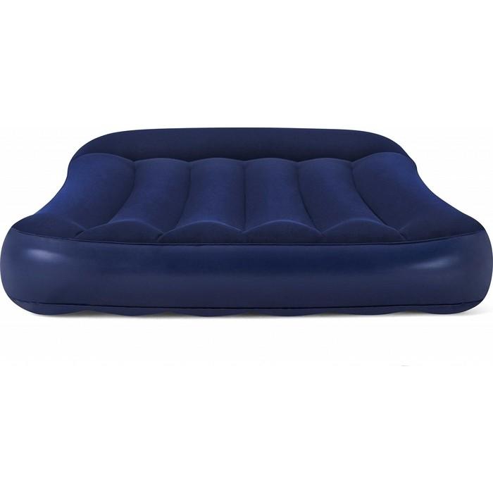 Надувная кровать Bestway Tritech Airbed 99х188х30см с подголовником, 67680 BW надувная кровать bestway tritech airbed queen built in ac pump 67403 темно синий