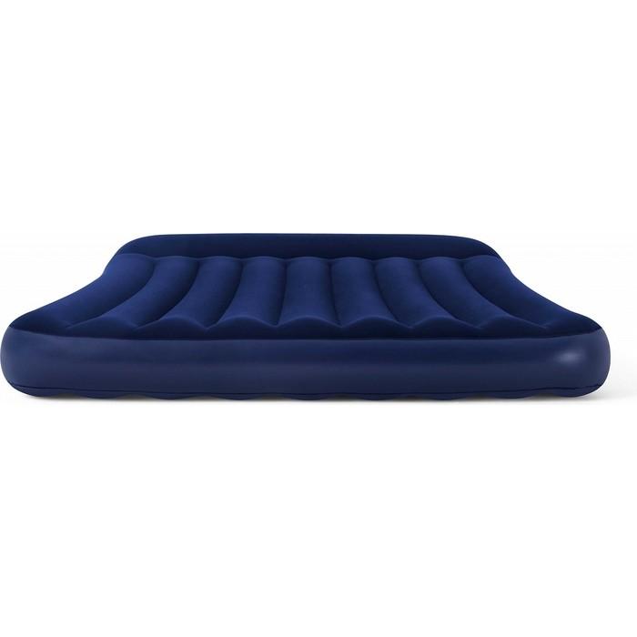 Надувная кровать Bestway Tritech Airbed 152х203х30см с подголовником, 67682 BW надувная кровать bestway tritech airbed queen built in ac pump 67403 темно синий