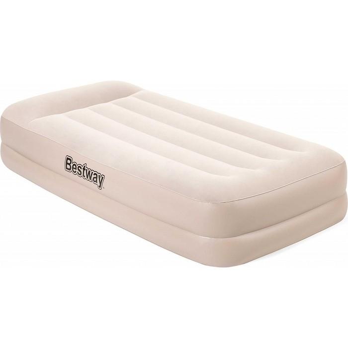 Надувная кровать Bestway Tritech Airbed 97х191х42см с подголовником, встр.насос 220В, 67694 BW надувная кровать bestway tritech airbed queen built in ac pump 67403 темно синий