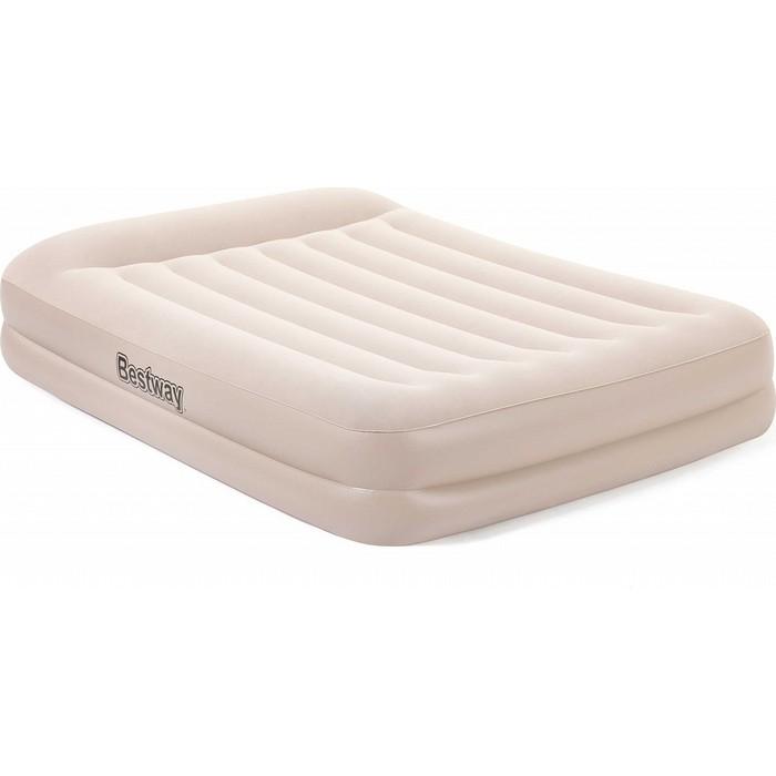 Надувная кровать Bestway Tritech Airbed 152х203х42см с подголовником, встр.насос 220В, 67696 BW надувная кровать bestway tritech airbed queen built in ac pump 67403 темно синий