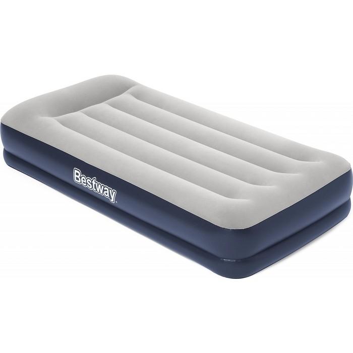 Надувная кровать Bestway Tritech Airbed 97х191х36см с подголовником, встр.насос 220В, 67723 BW надувная кровать bestway tritech airbed queen built in ac pump 67403 темно синий