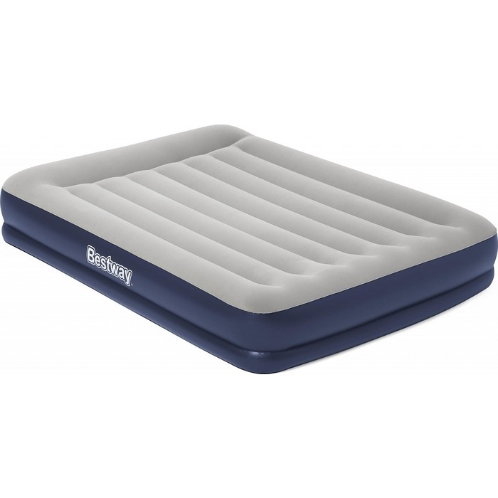 Надувная кровать Bestway Tritech Airbed 152х203х36см с подголовником, встр.насос 220В, 67725 BW надувная кровать bestway tritech airbed queen built in ac pump 67403 темно синий