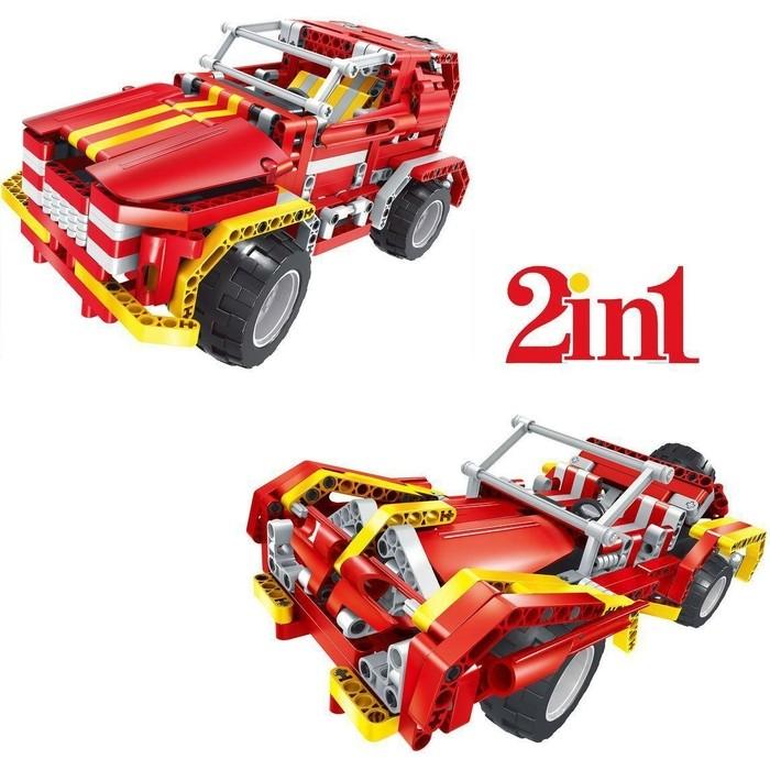 Радиоуправляемый конструктор QiHui Пожарная машина (472 детали) - QH8002 набор пазлов пожарная бригада 2 х 24 детали