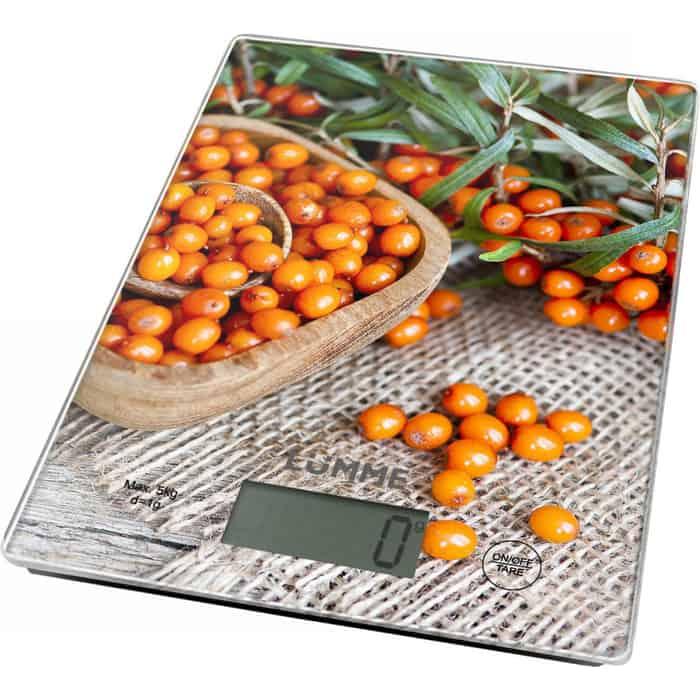Весы кухонные Lumme LU-1340 янтарная облепиха