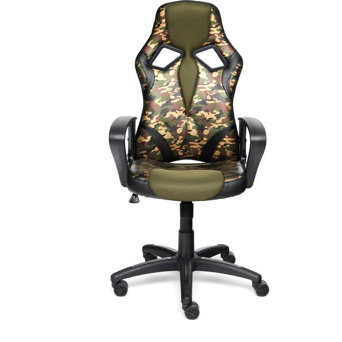 Кресло TetChair Runner military кож/зам/ткань хаки