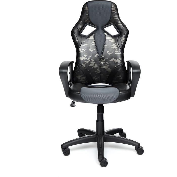 Кресло TetChair Runner military кож/зам/ткань серый